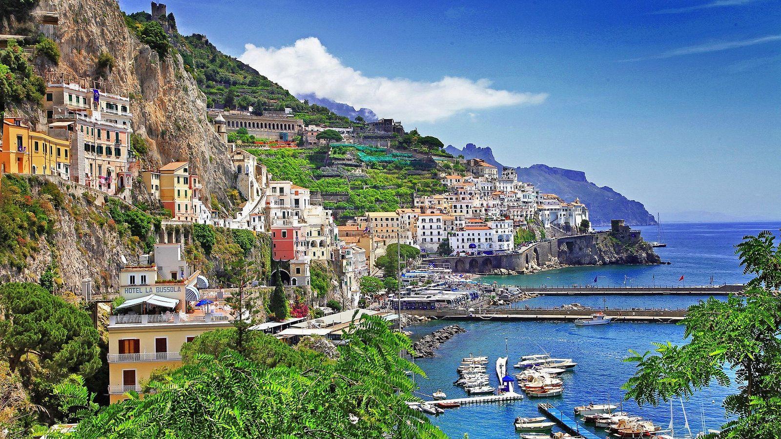 Beautiful Positano Italy Hdr Hd Desktop Background Italy