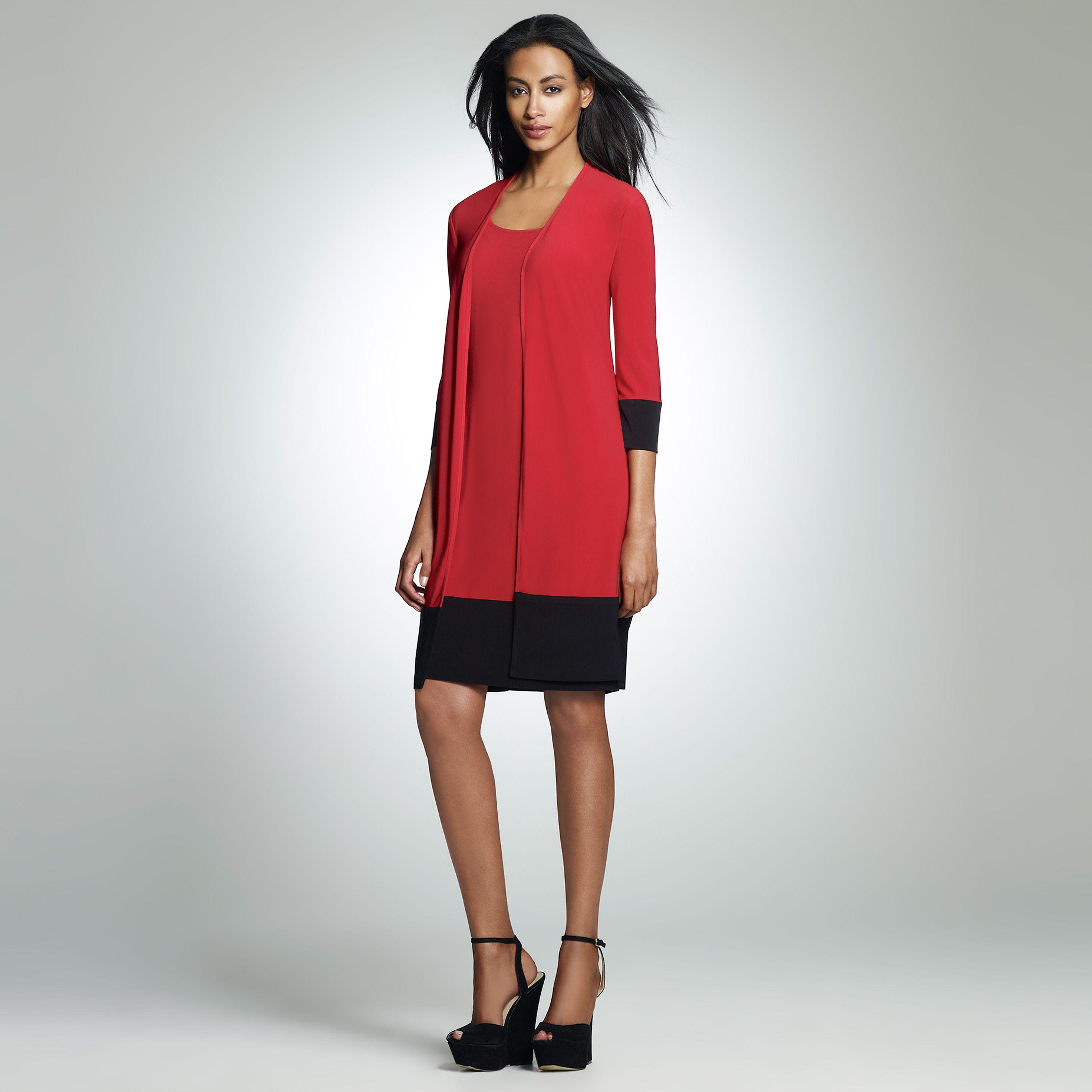 Flattering color block dress for women over 50 | Hair ...
