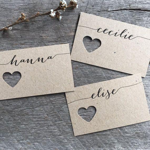 Hochzeitsgabel Karton Hochzeit Tischkarten von LaPommeEtLaPipe