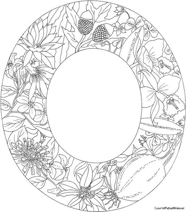 Letter o coloring pages bing images