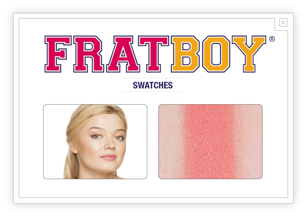 FratBoy's Talc-free, finely-graded powder formula adds just the right flush so you look pledge perfect around the clock.