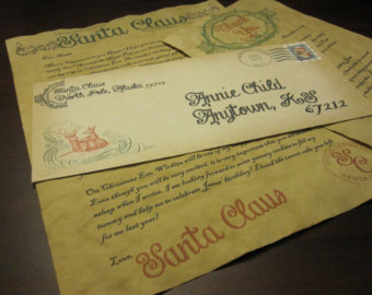 Authentic unique letter from santa christmas