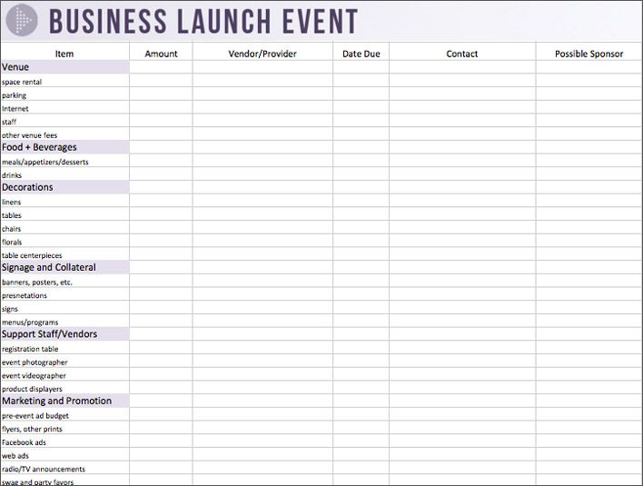 17 Best images about event planning – Event Budget Template