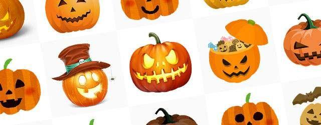 無料イラスト素材ハロウィンかぼちゃジャックオランタンの画像