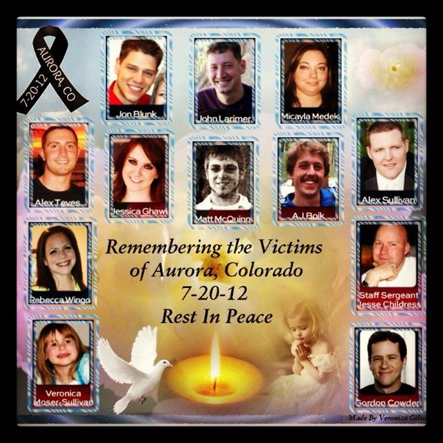 For the Aurora Theater Shooting victims  Soon we will see