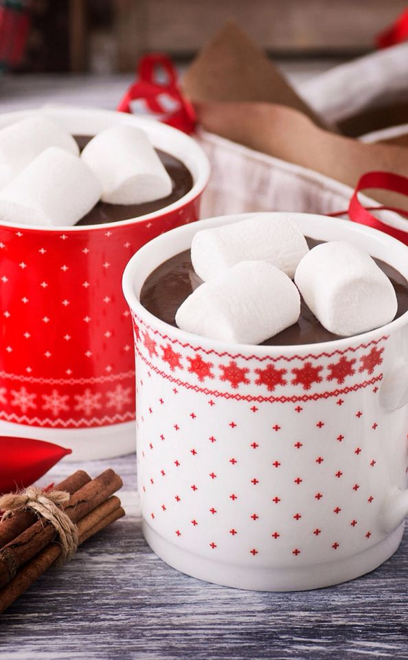 Hot chocolate with marshmallow it there is nothing better in winter ☕️🎅❤️