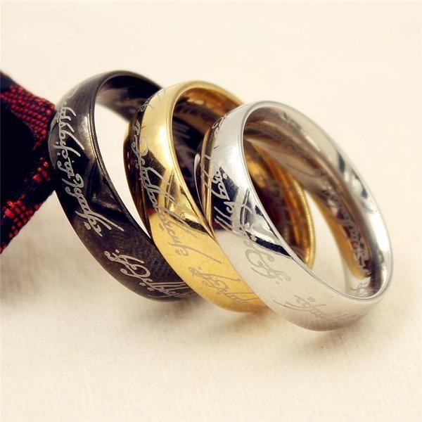 Lord of the Rings Ring [ 3 Color ] | El señor, Señor y Anillos