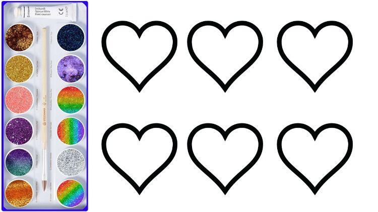 Menggambar Dan Mewarnai 6 Hati Yang Menyenangkan Halaman Mewarnai