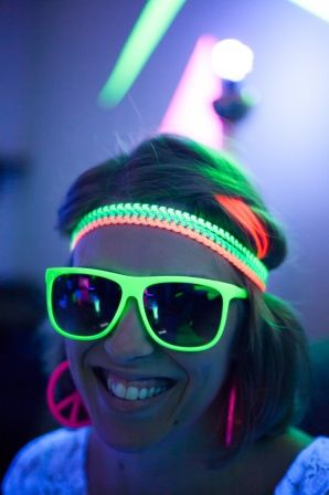 glow in the dark party neon glow bunting glow sticks