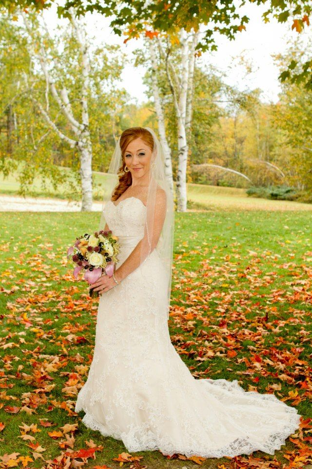 Fall Wedding Inspiration Light Gold Maggie Sottero Dress NH