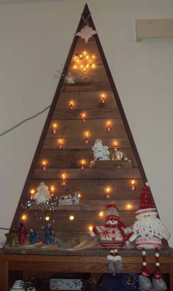 Zelfgemaakte Kerstboom Van Hout Zelfgemaakte Kerstboom Kerstboom Kerst