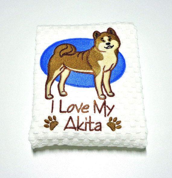 "Akita Gift, Akita Owner Gift, Kitchen Towel, Akita Lover Gift, Dish Towel, Dog Lover Gift, Akita Decor, Hostess Gift, Birthday Gift ""Akita"""