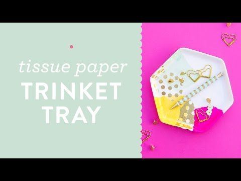 DIY Easy Decoupage Tissue Paper Trinket Tray Tutorial - YouTube