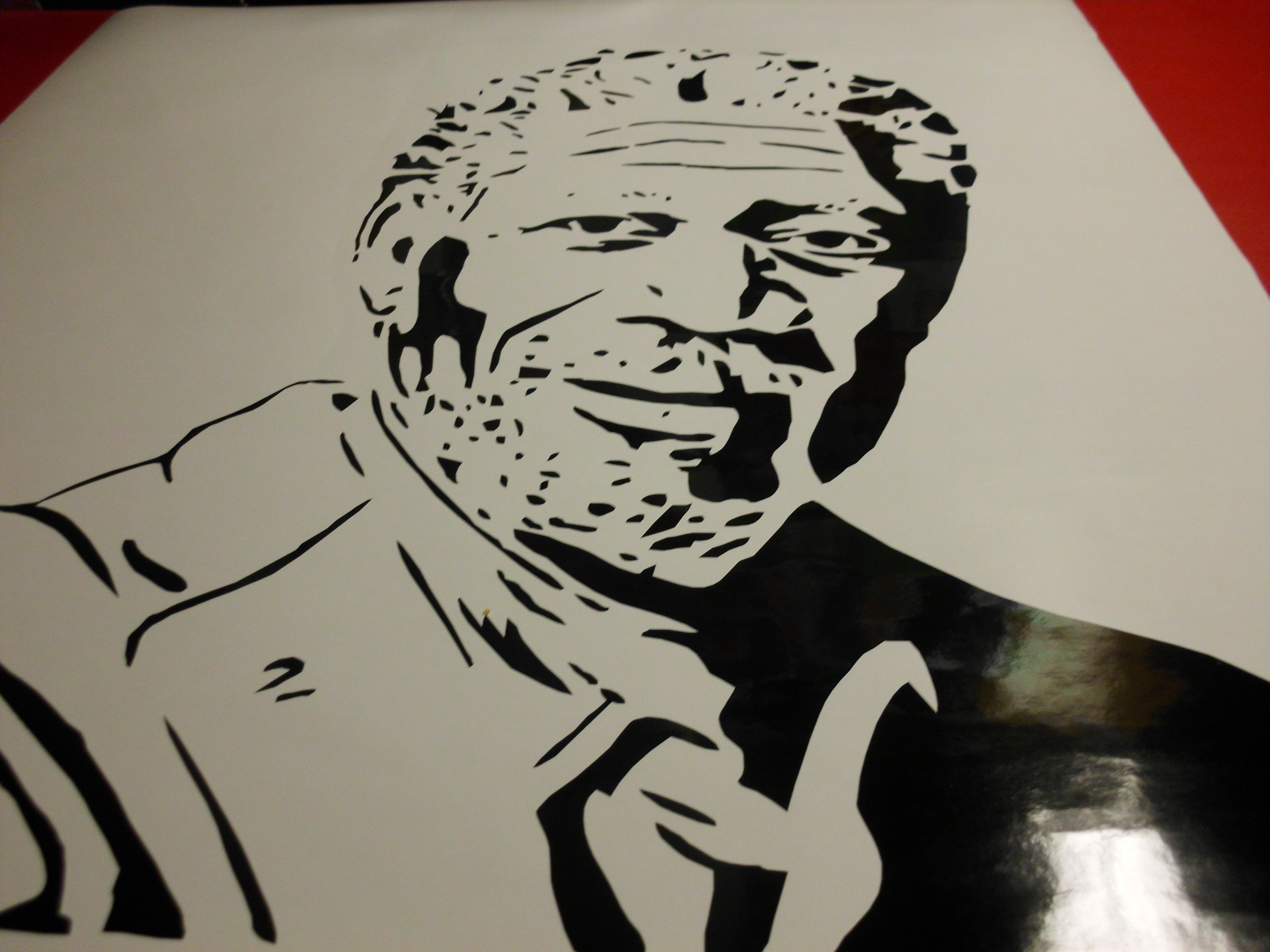 Morgan Freeman Silhouette Vinyl Decal Can Be Used As A Bumper - Vinyl decals for your car