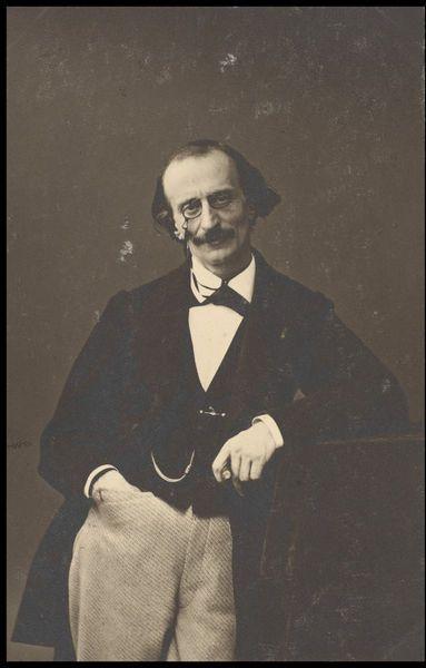 Jacques Offenbach [born Jakob Eberst] (1819-1880), photograph (1865), by Félix Tournachon (1820-1910).
