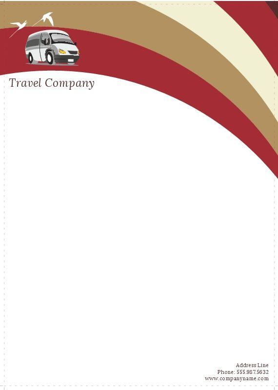 Travel Company Letterhead 7 LetterHead Pinterest Letterhead