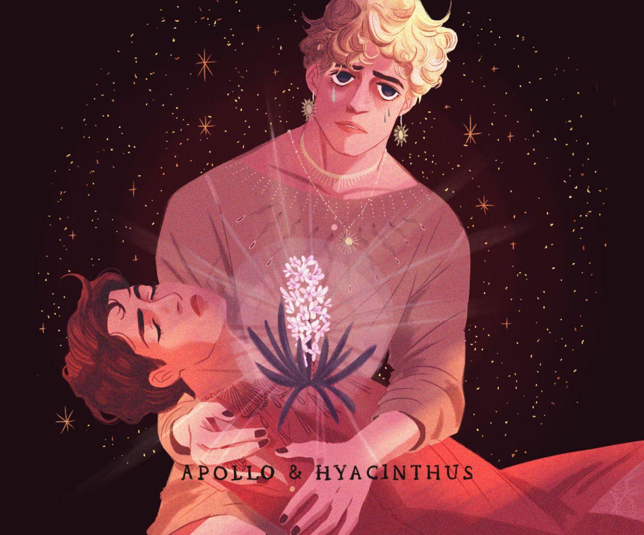 Apollo And Hyacinthus By Stephanie Son Greek Mythology Art Greek And Roman Mythology Mythology