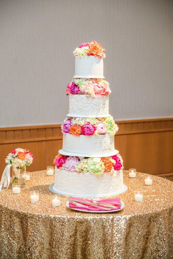 Beautiful wedding cake #weddingcake #elegantweddingcake #weddingcakeideas #weddinginspiration #weddingideas #goldweddingcaketable