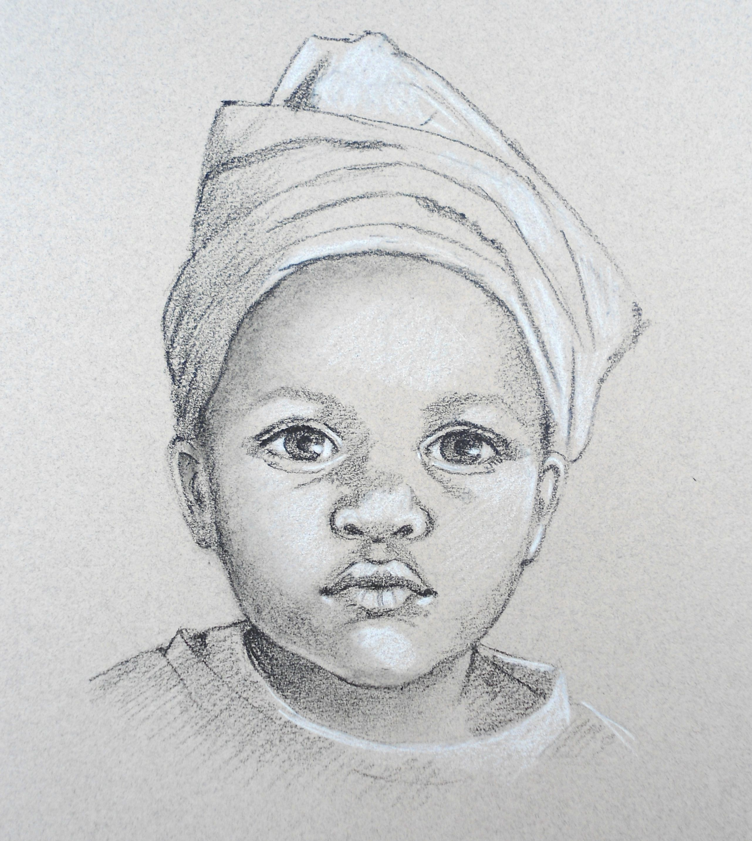 Portrait Of A Child From Carole Massey S How To Draw Portraits At