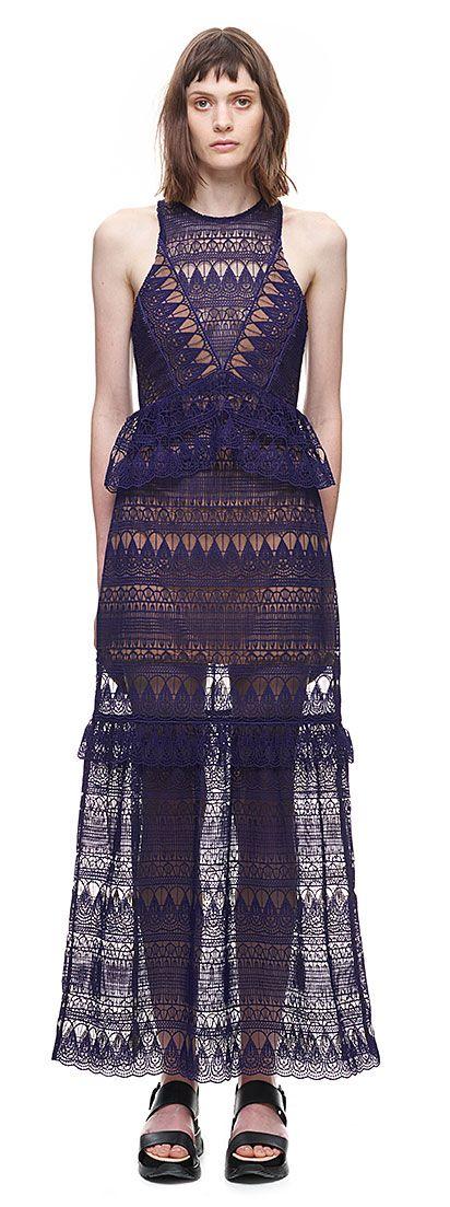 Panelled maxi dress