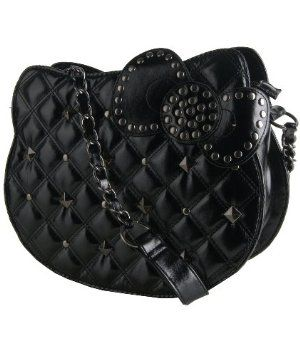 Hello Kitty Quilted Studded Black Shoulder Bag mine mine mine no ... : hello kitty quilted purse - Adamdwight.com