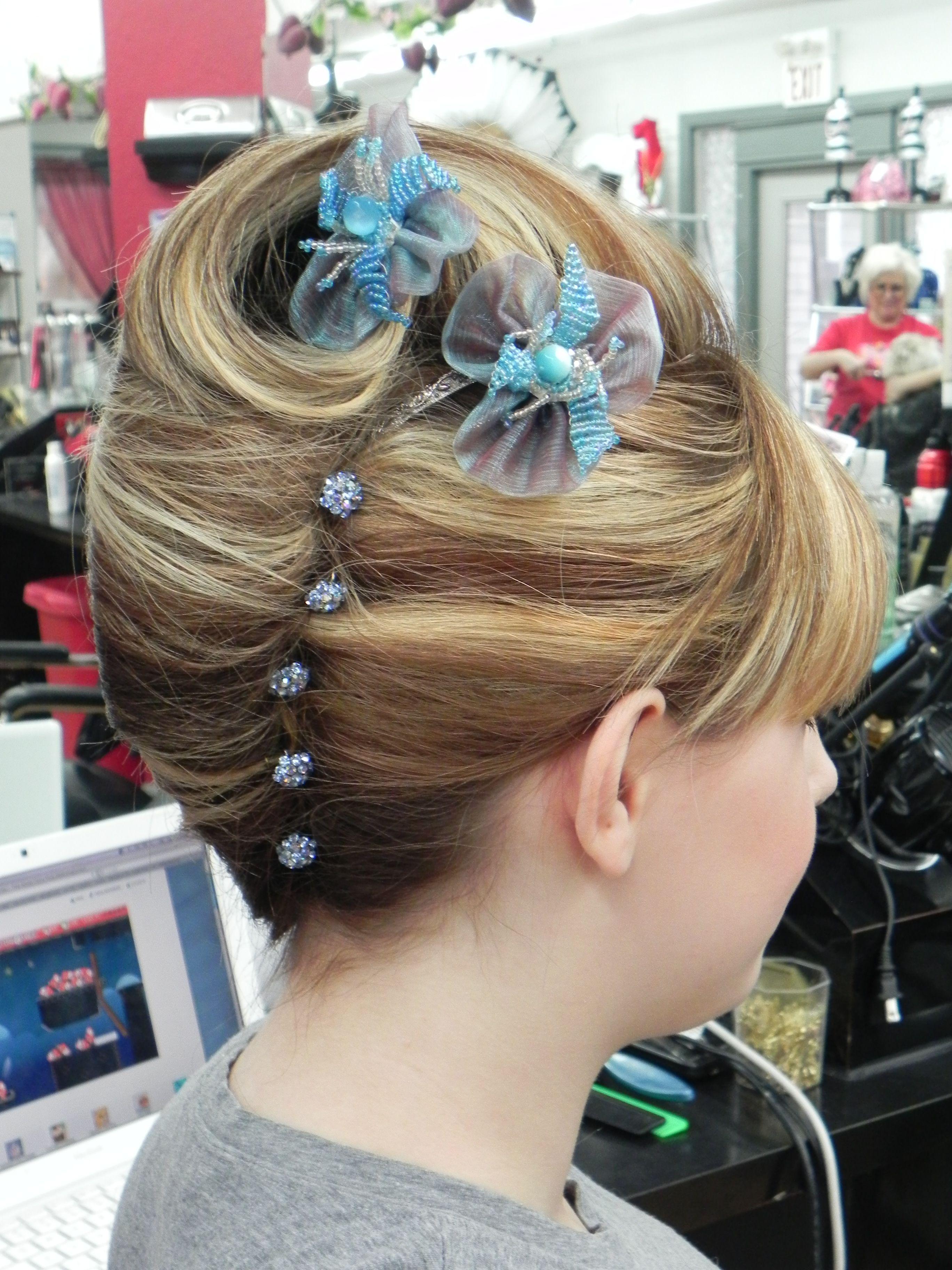 Decorative french twist hairstyles wedding updo
