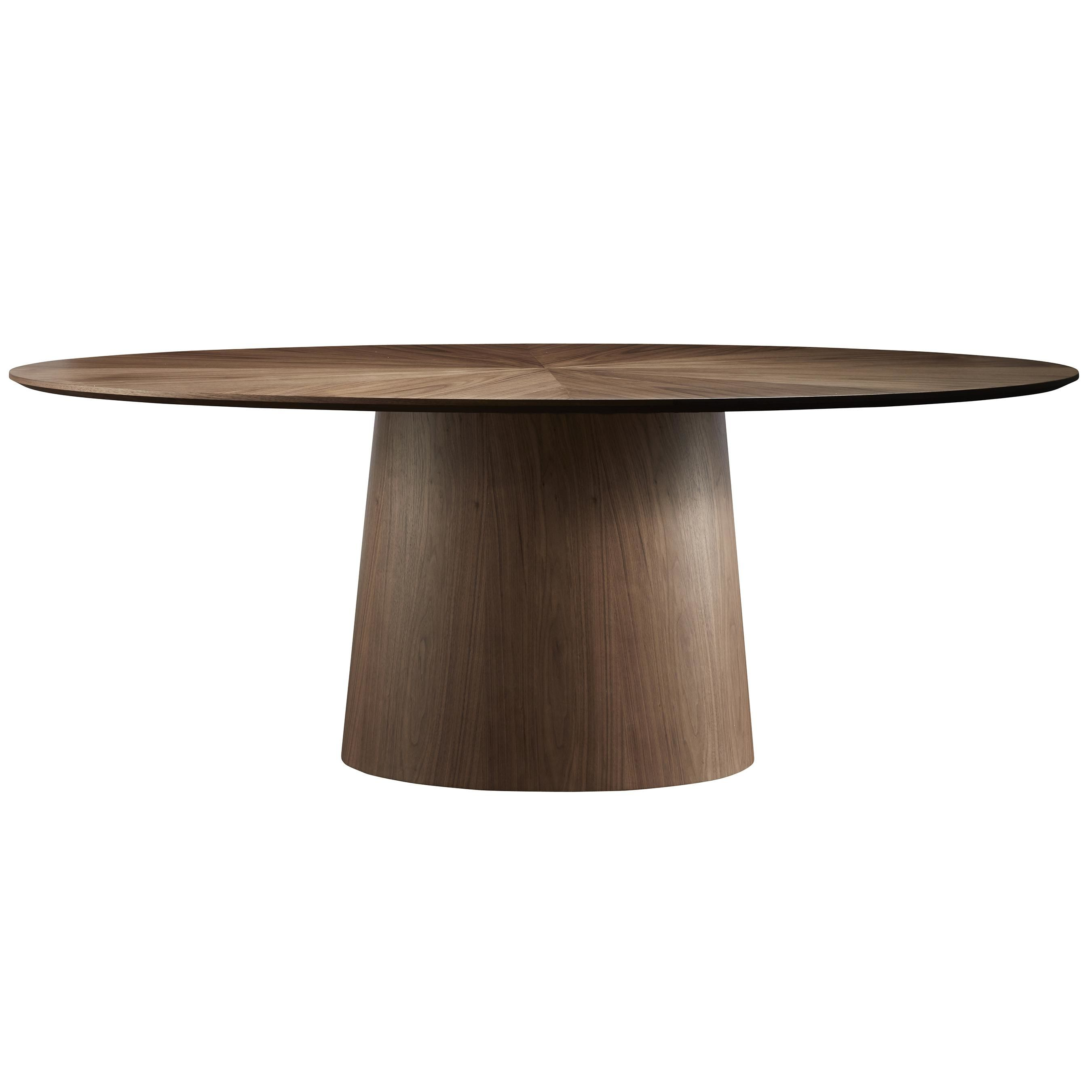 Beth Oval Dining Table Walnut With Images Oval Table Dining