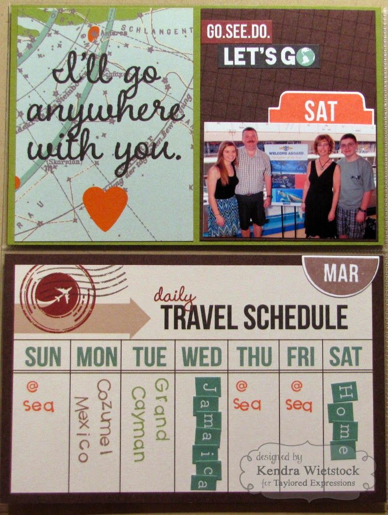 Kendras Card Company Where My Heart Is Scrapbook Travel