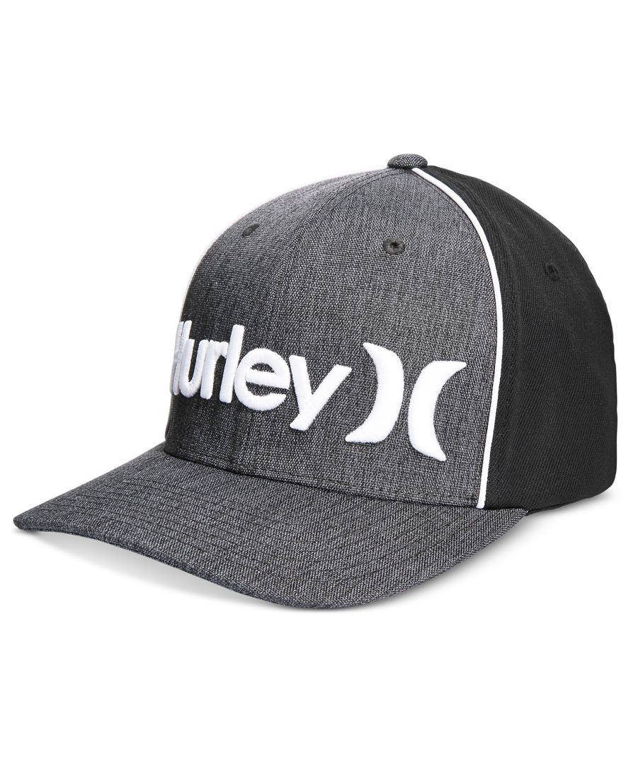 fc44317b99d Hurley Men s One And Only Corp Embroidered Logo Flexfit Hat
