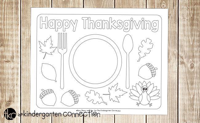 Fun Printable Thanksgiving Placemats Thanksgiving Placemats Thanksgiving Crafts Preschool Thanksgiving Printables
