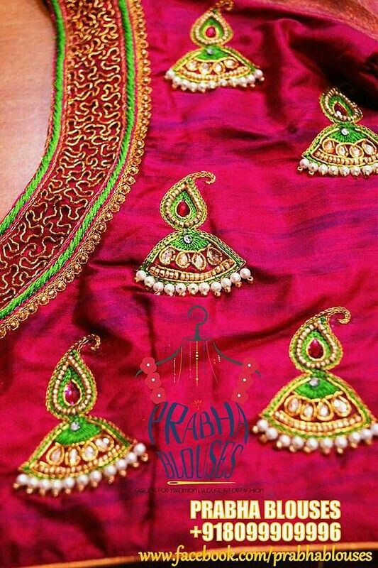Sari blouse designs patterns styles embroidery hand also pin by sandhya chepyala on blouses pinterest rh hu
