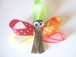 Thanksgiving Crafts for Kids: Gobble Gobble Hair Clips | Bowdabra Blog