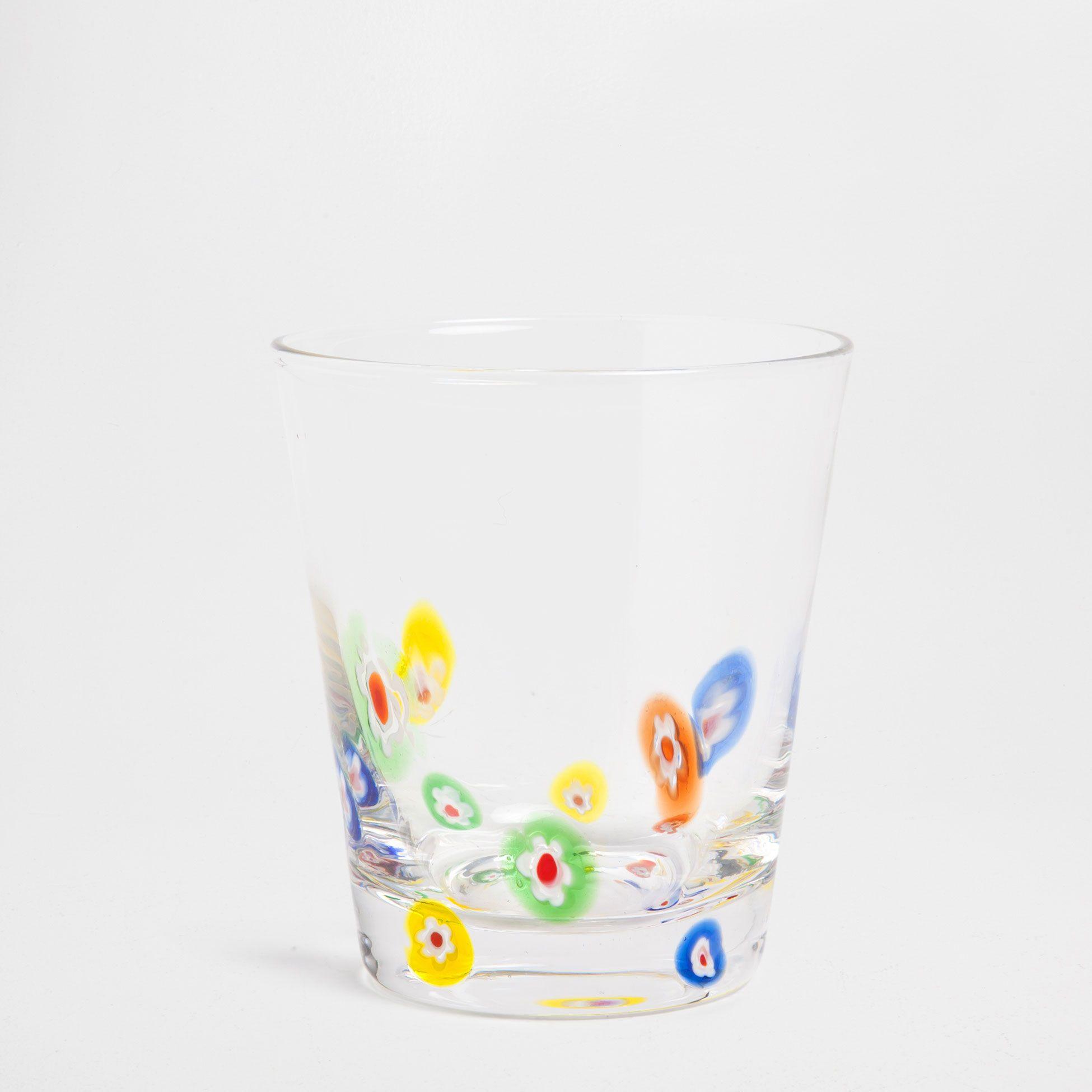 Coloured flower tumbler glassware tableware zara