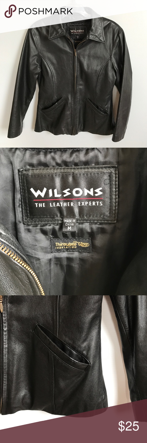 Wilsons leather jacket with 3M thinsulate zip out