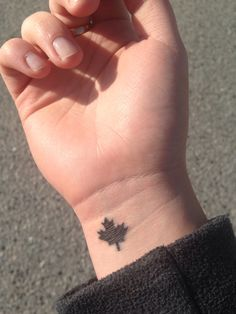 Small Maple Leaf Tattoo Google Search Maple Leaf Tattoo Fingerprint Tattoos Tattoos