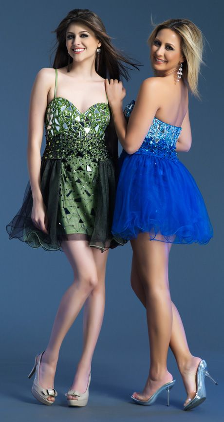 Spaghetti Strap Mini Green Tulle A Line Homecoming Dress
