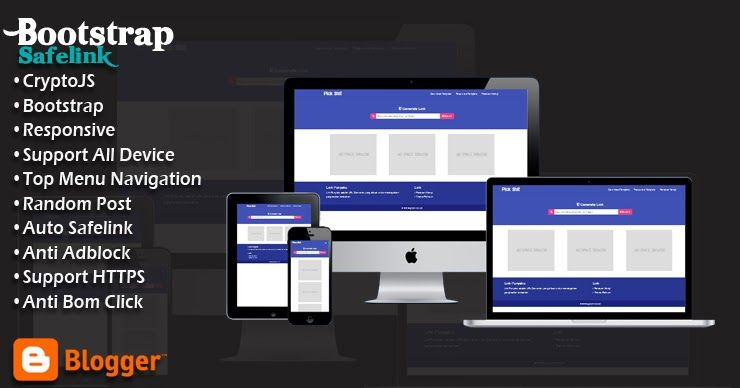 Safelink Bootstrap Responsive Blogger Template In 2020 Blogger Templates Responsive Blogger Template Templates
