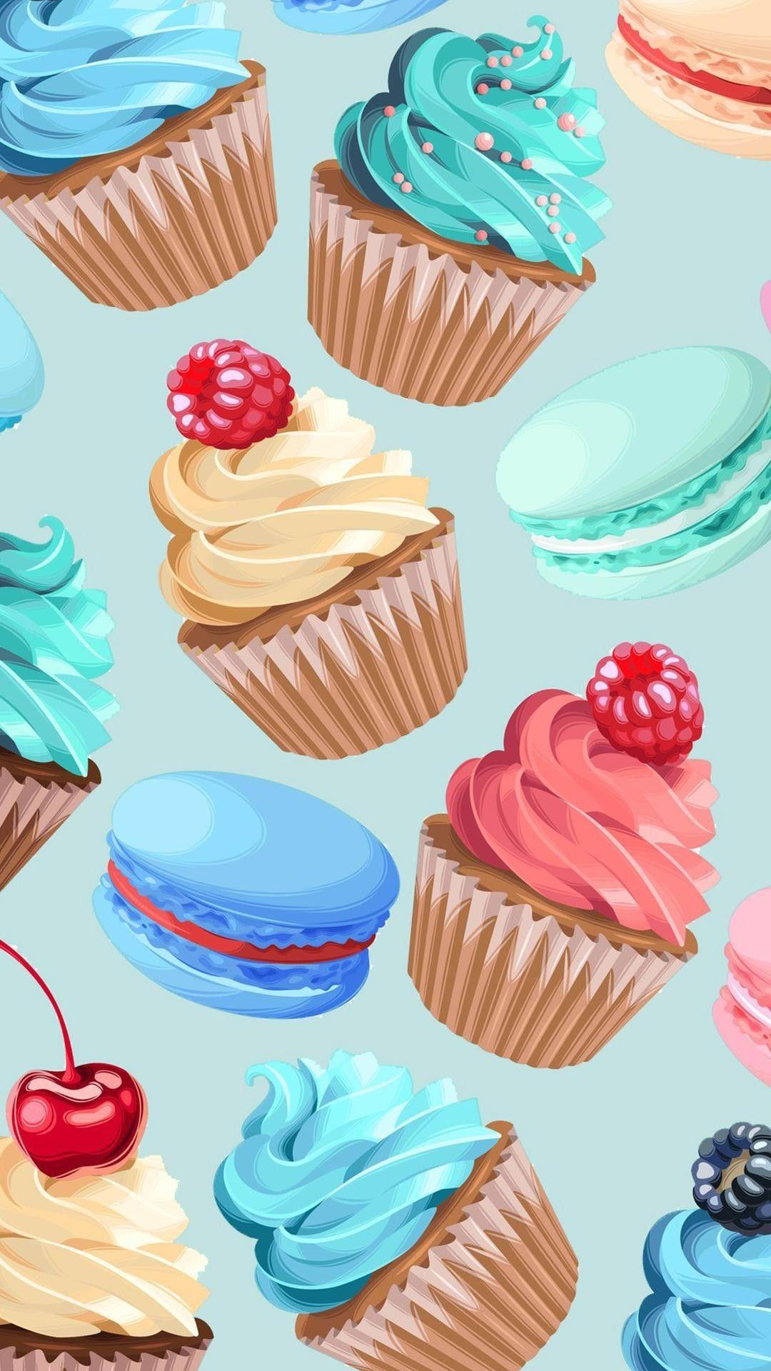 Pin By H Ali On Wallpapers Cupcakes Wallpaper Cake Wallpaper Wallpaper Iphone Cute