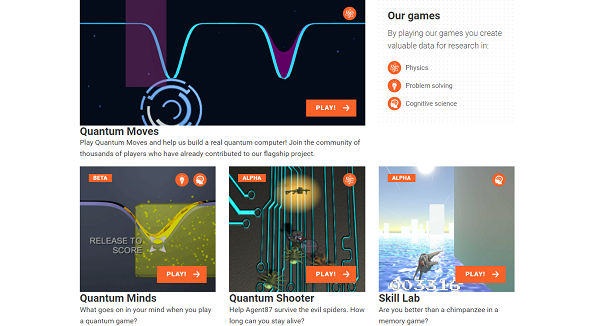 A citizen science app with a selection of games which help