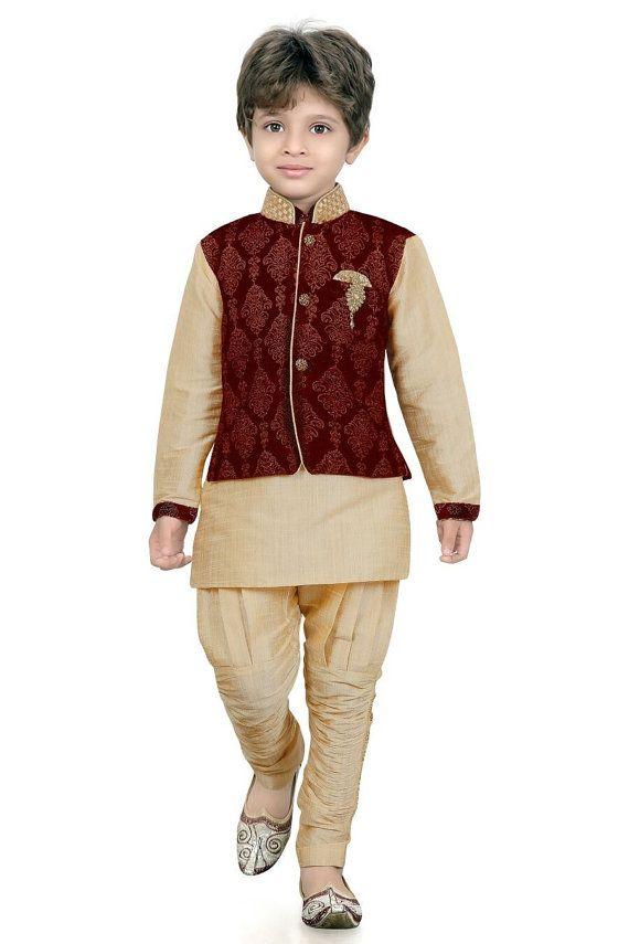 Kids Boys Ethnic Indian Pakistani Sherwani by ...