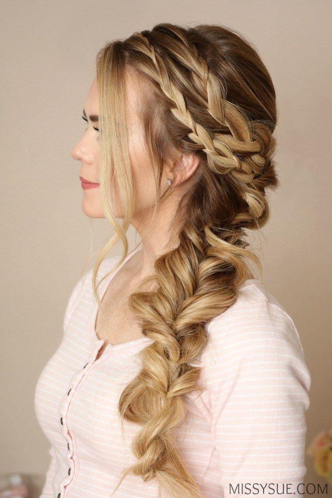 Mermaid Hairstyles Mermaid Side Braid  Mermaid Hair Style And Updo
