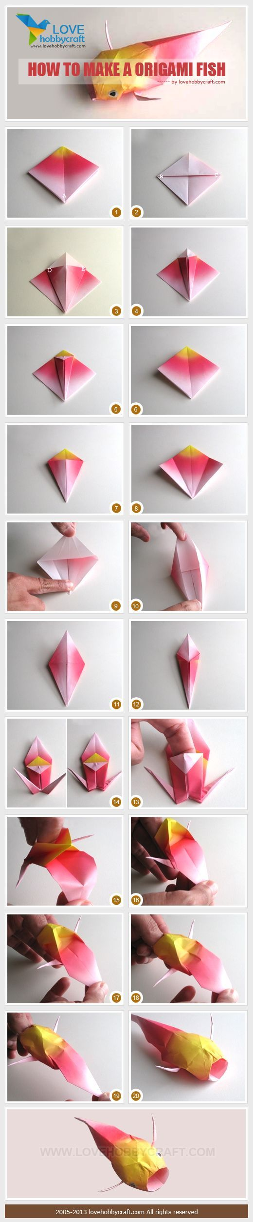 How To Make Origami Fish From Paper Origami Origami Fish And Craft