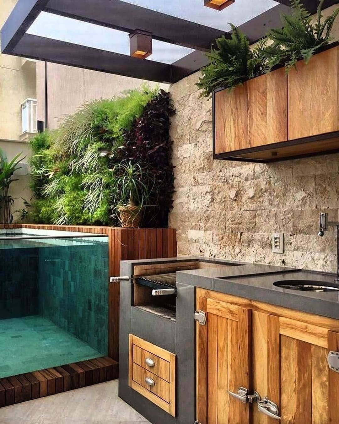 Outdoor Kitchen Plans With Bathroom
