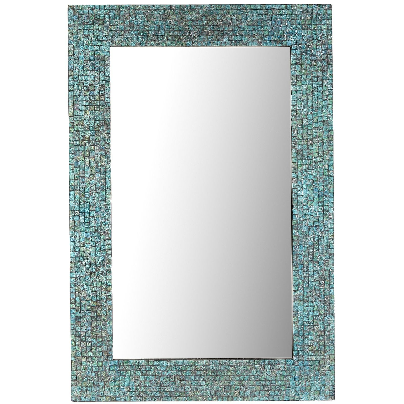 Azure Mosaic Mirror 24x36 Mosaic Mirror Mirror Wall Decor Mirror