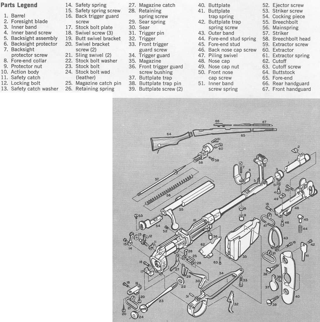 Lee enfield mk 1 parts