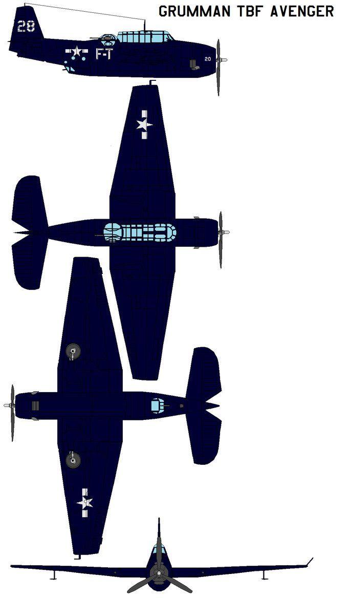 Grumman TBF Avenger by bagera3005 on DeviantArt