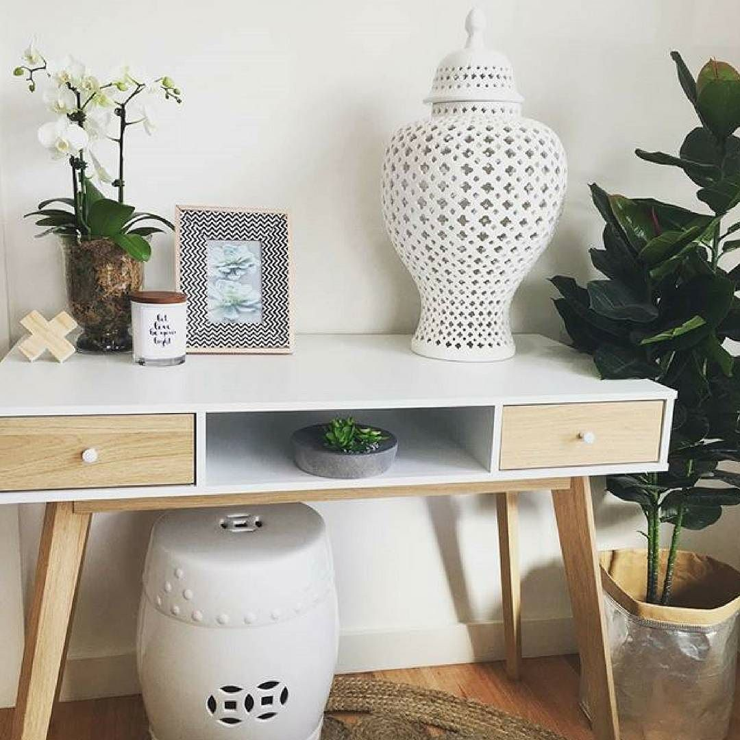 Amartstyle With Hunters Of Style Featuring Our Selena Office Desk As An Entry Table Ft