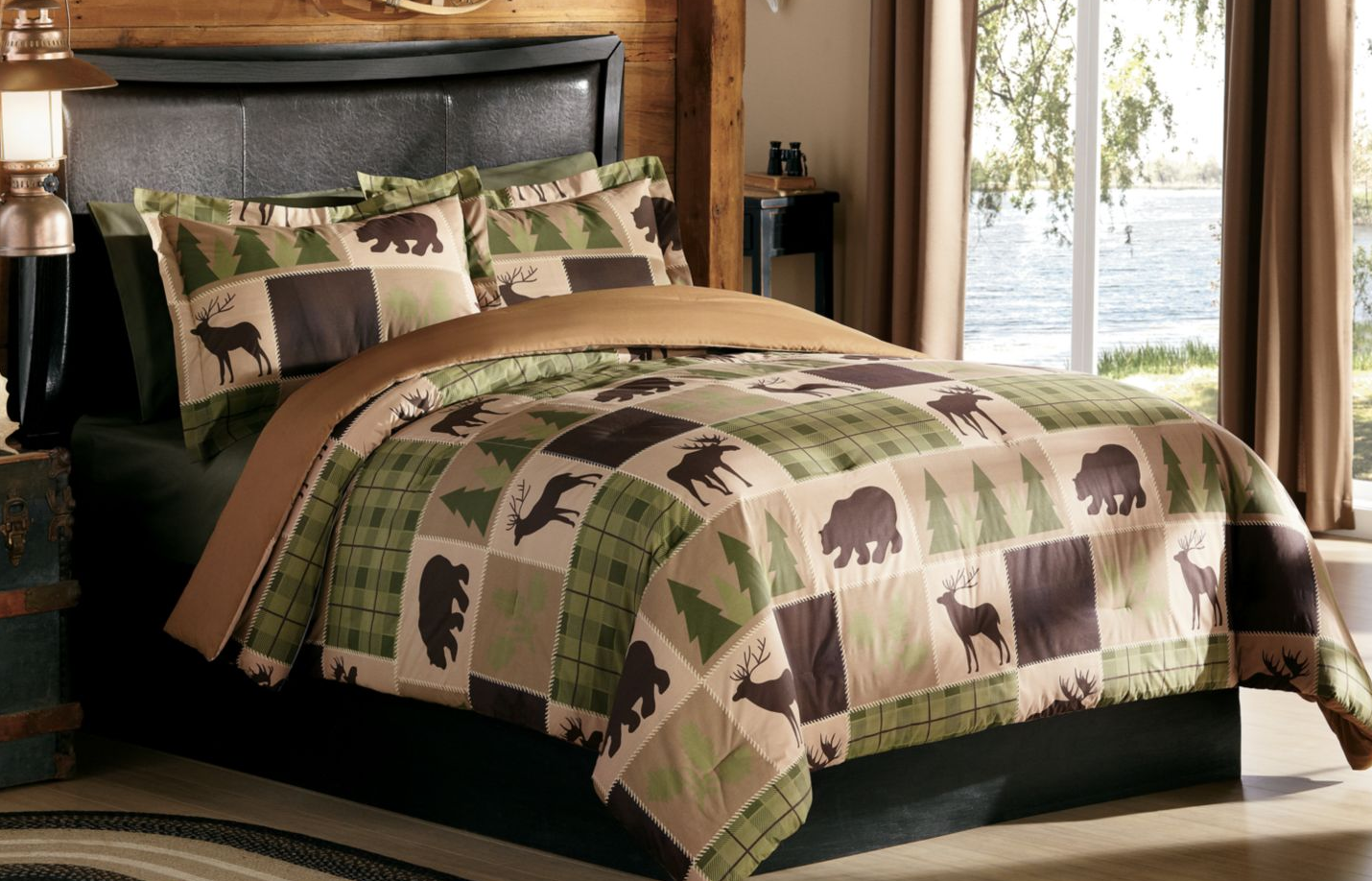Rustic Patch ThreePiece Comforter Set from Cabela's