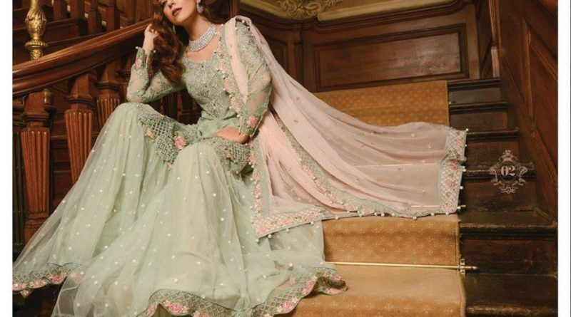 Mehndi Party Attire : Mbroidered by maria b pakistani party wear and
