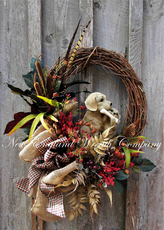 Dog Wreath, Dog Lover Wreaths, Woodland Dog Wreath, Father